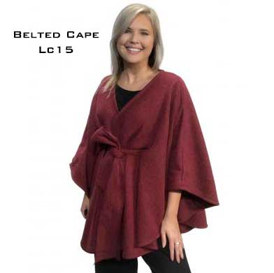 Capes - Luxury Wool Feel / Belted LC15
