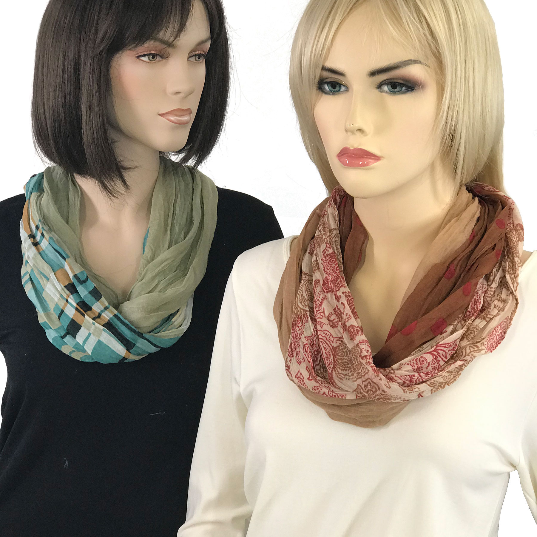Magnetic Clasp Scarves (Bohemian Three Layer) 3263