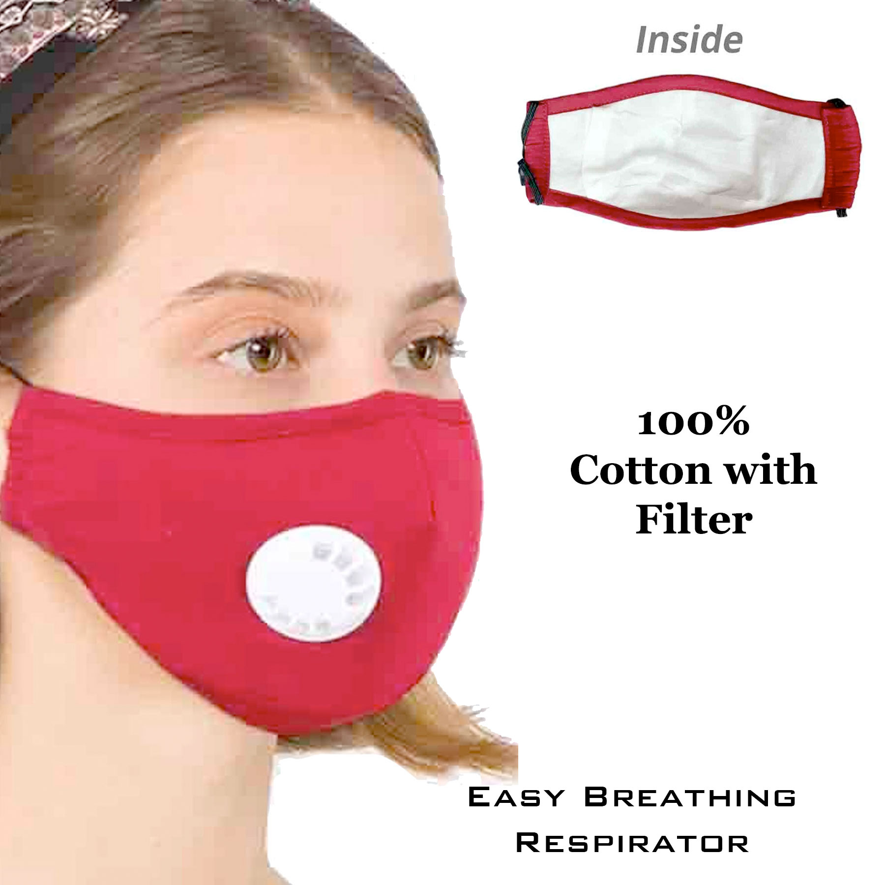Protective Masks with Respirator + Filters C09 C10