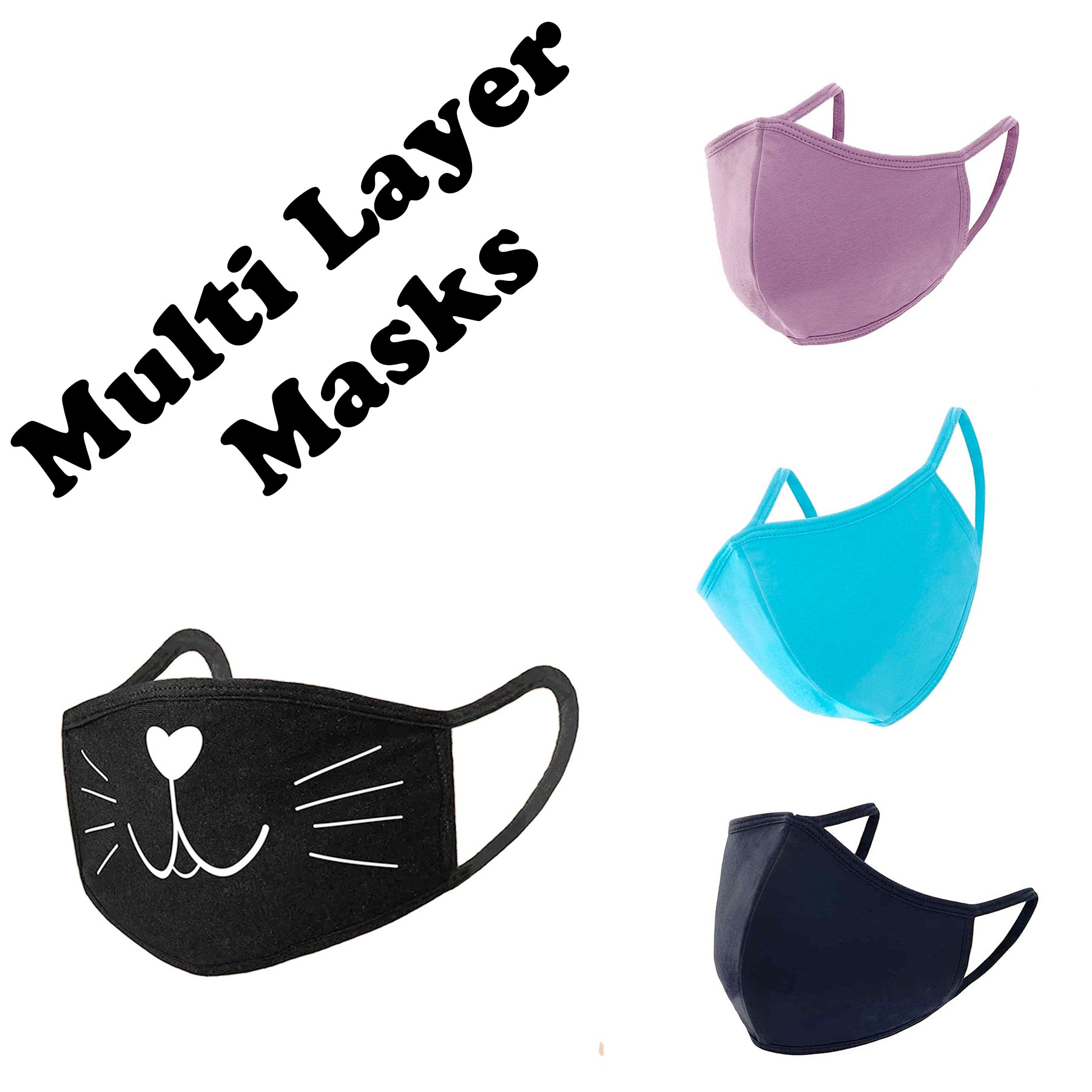 Protective Masks Multi Layer by Lola