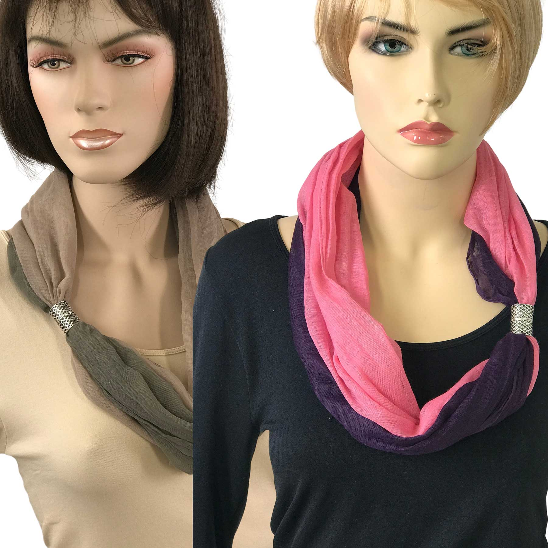 Magnetic Clasp Scarves (Two Layer)