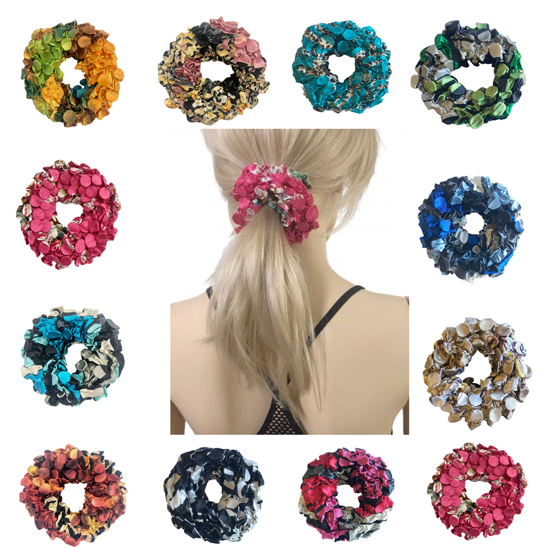 Satin (Jelly Donut) Coin Scrunchies
