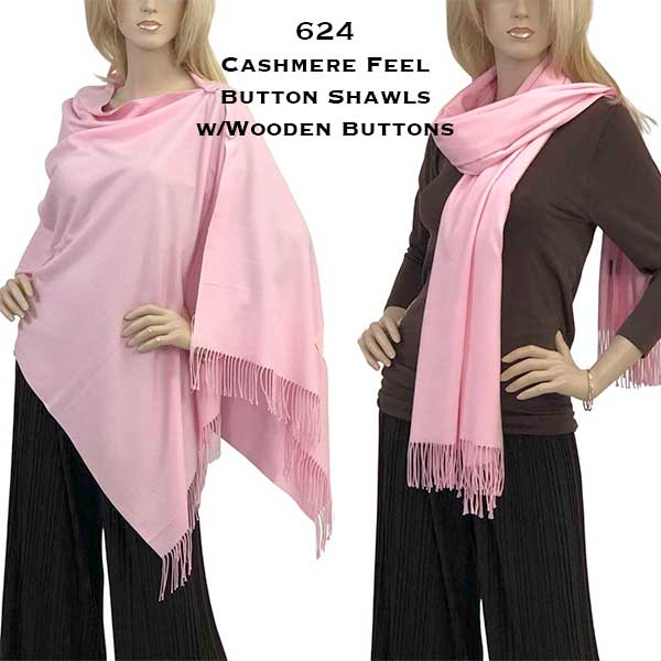 Button Poncho/Shawl - Cashmere Feel Wooden Buttons