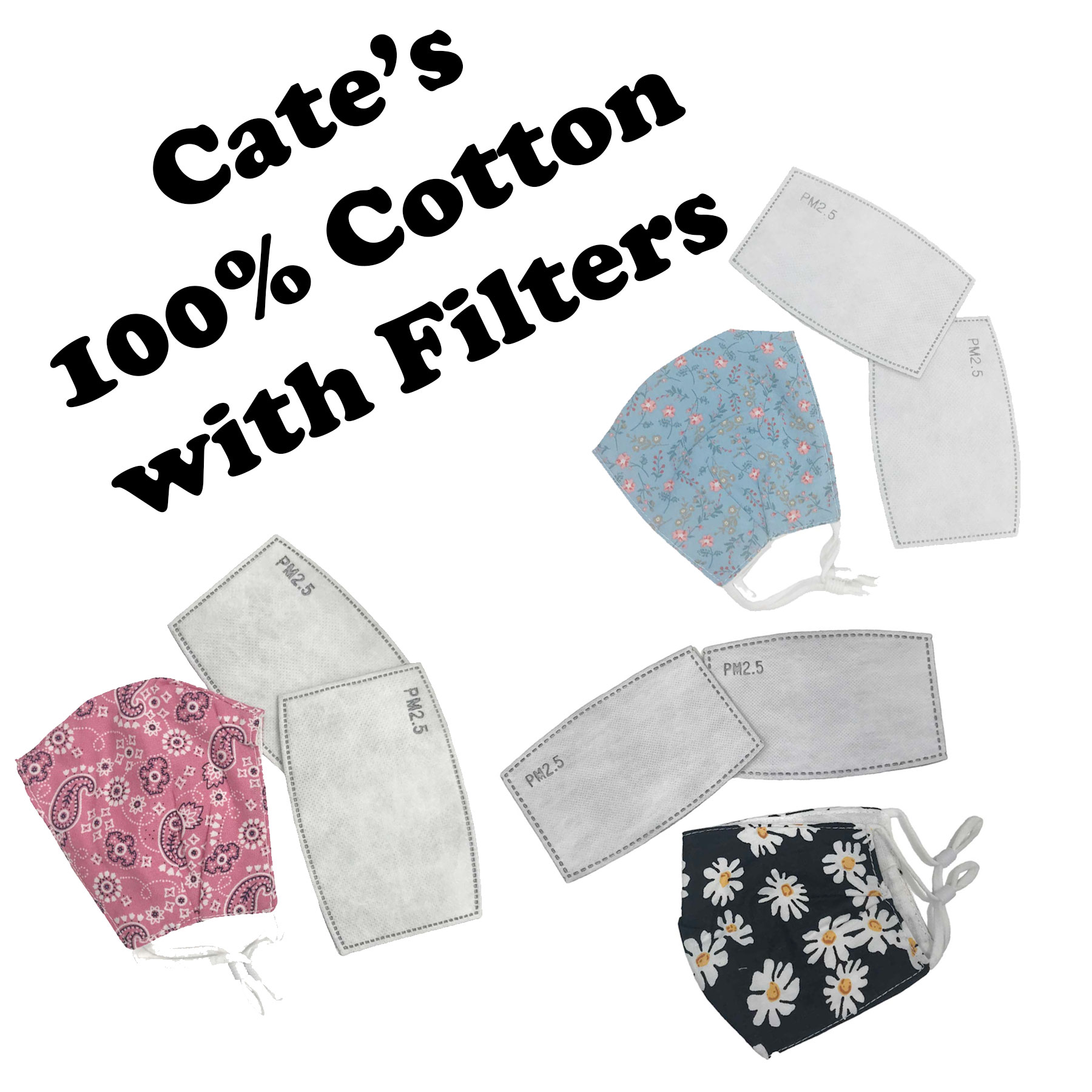 Protective Masks by Cate with Filters