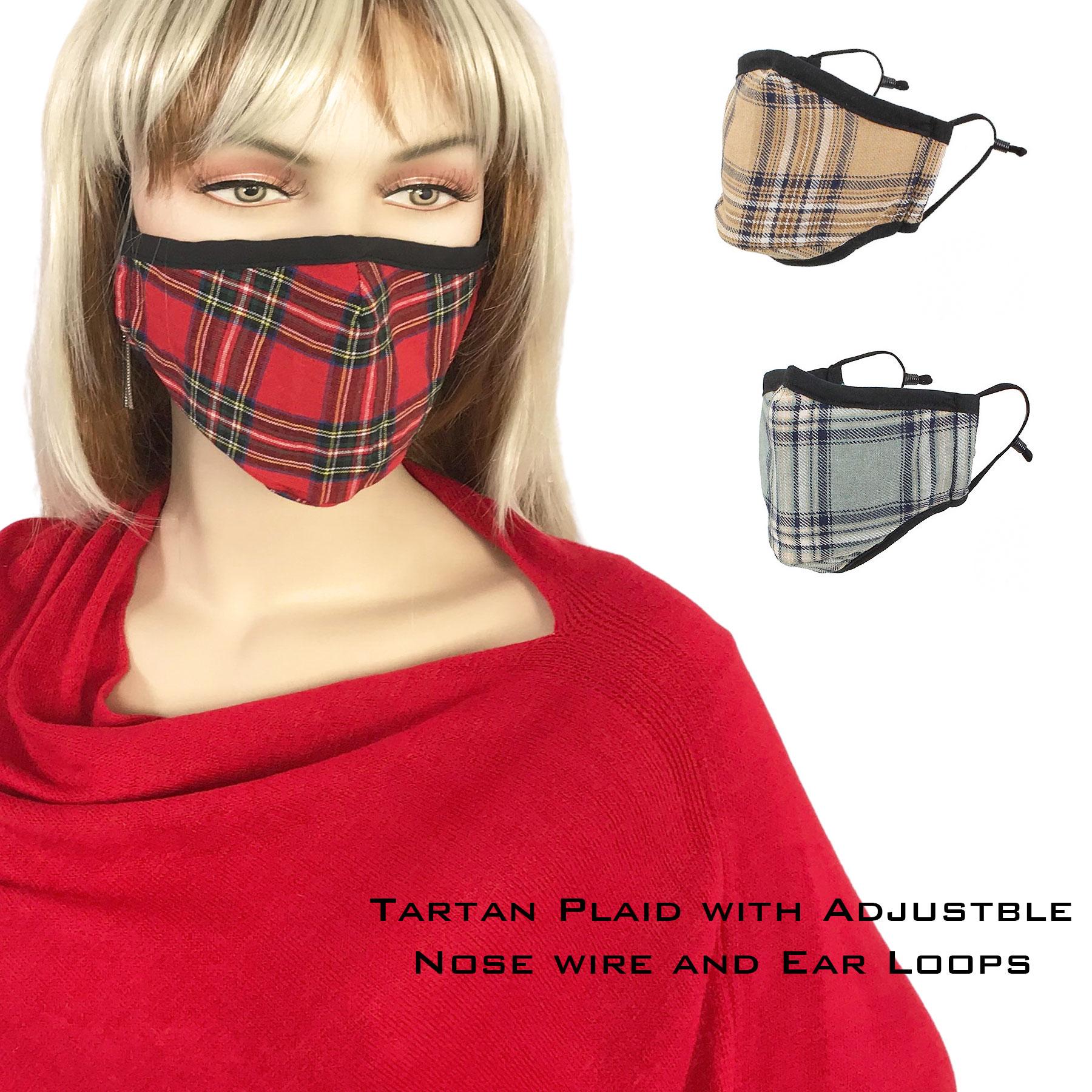 Protective Masks by Max - Tartan Plaids