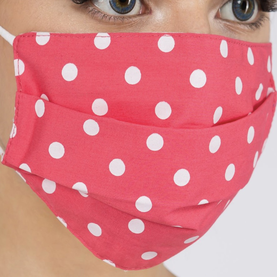 Protective Masks - Pleated Polka Dots