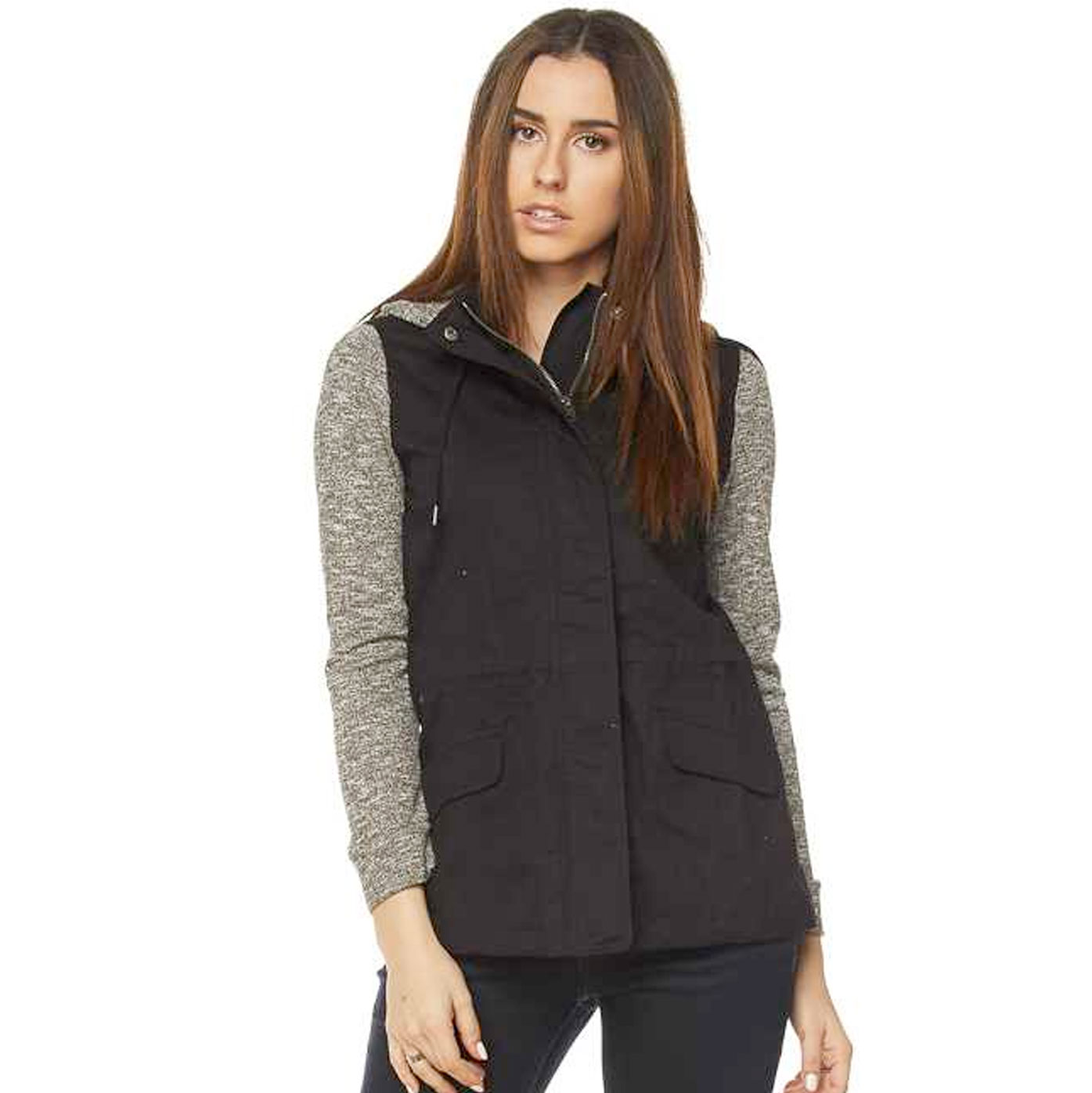 Jacket - Hooded Safari with Knit Contrast 28495