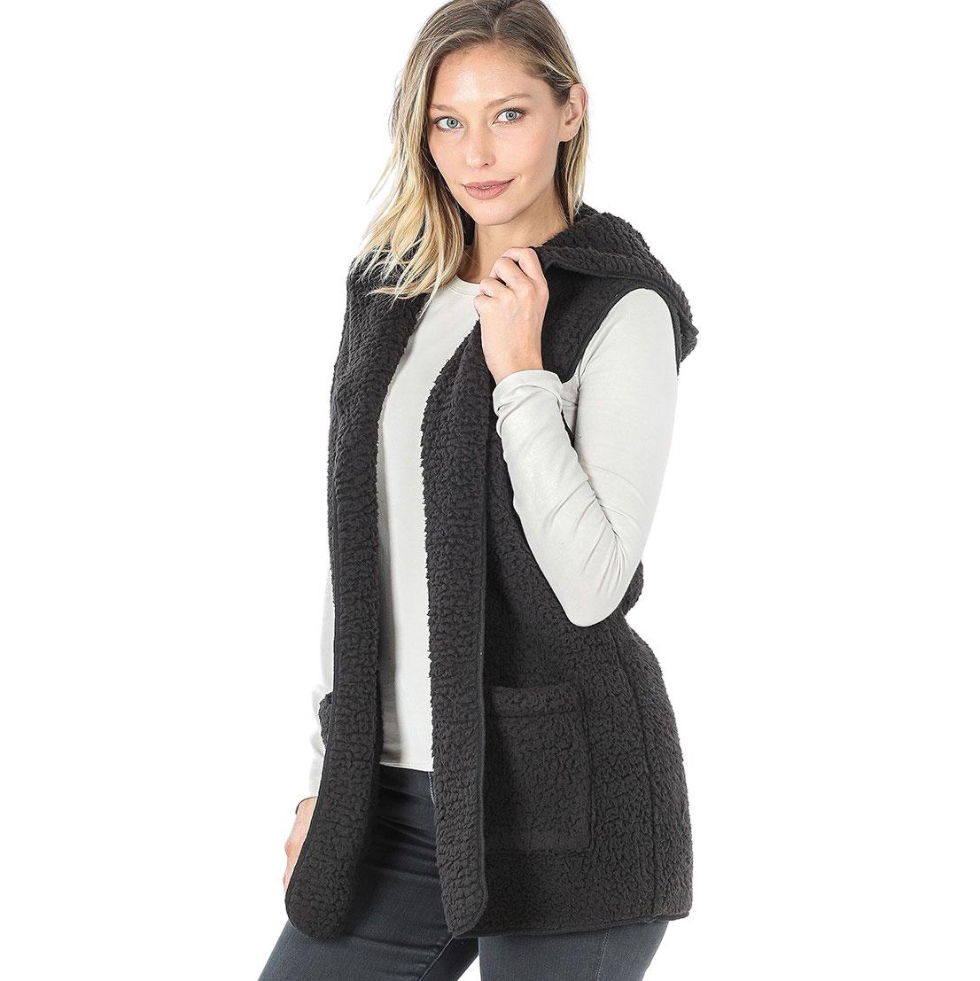 Vest - Sherpa Hooded Vest 75021