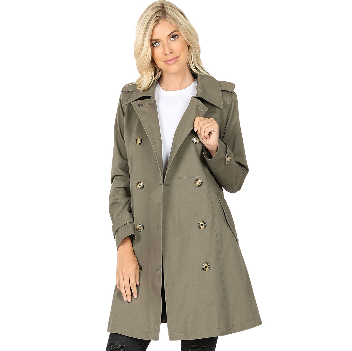 Trench Coat - Thigh Lenght 2674