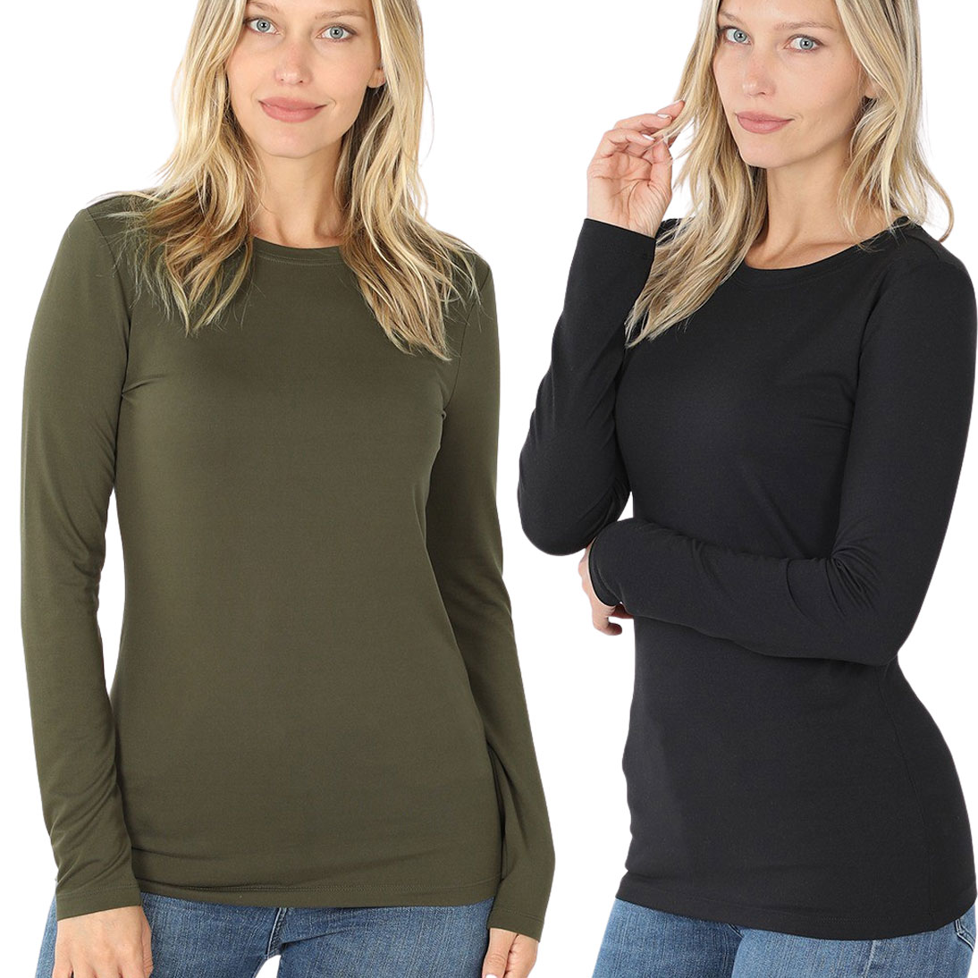 Brushed Fiber - Round Neck Long Sleeve 2053