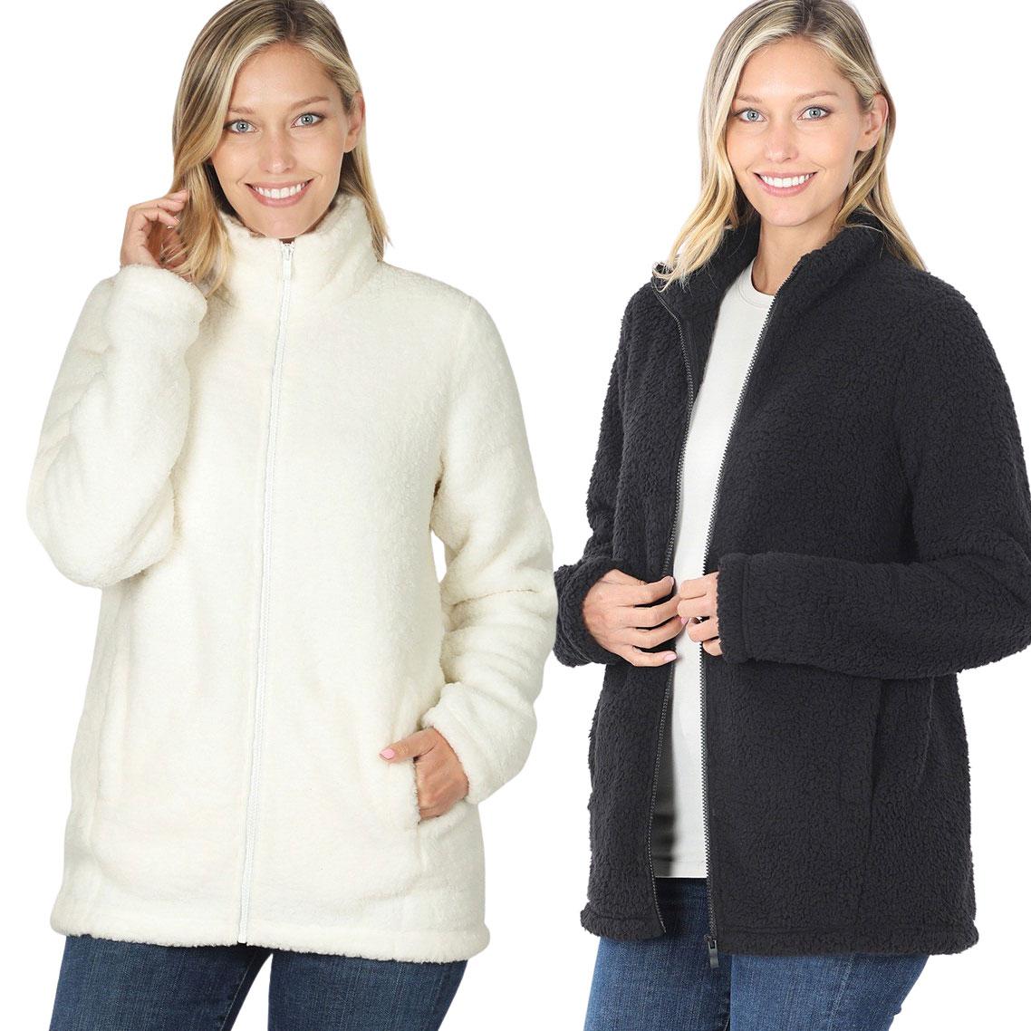 Jacket - Sherpa Zipper Front w/Pockets 2827