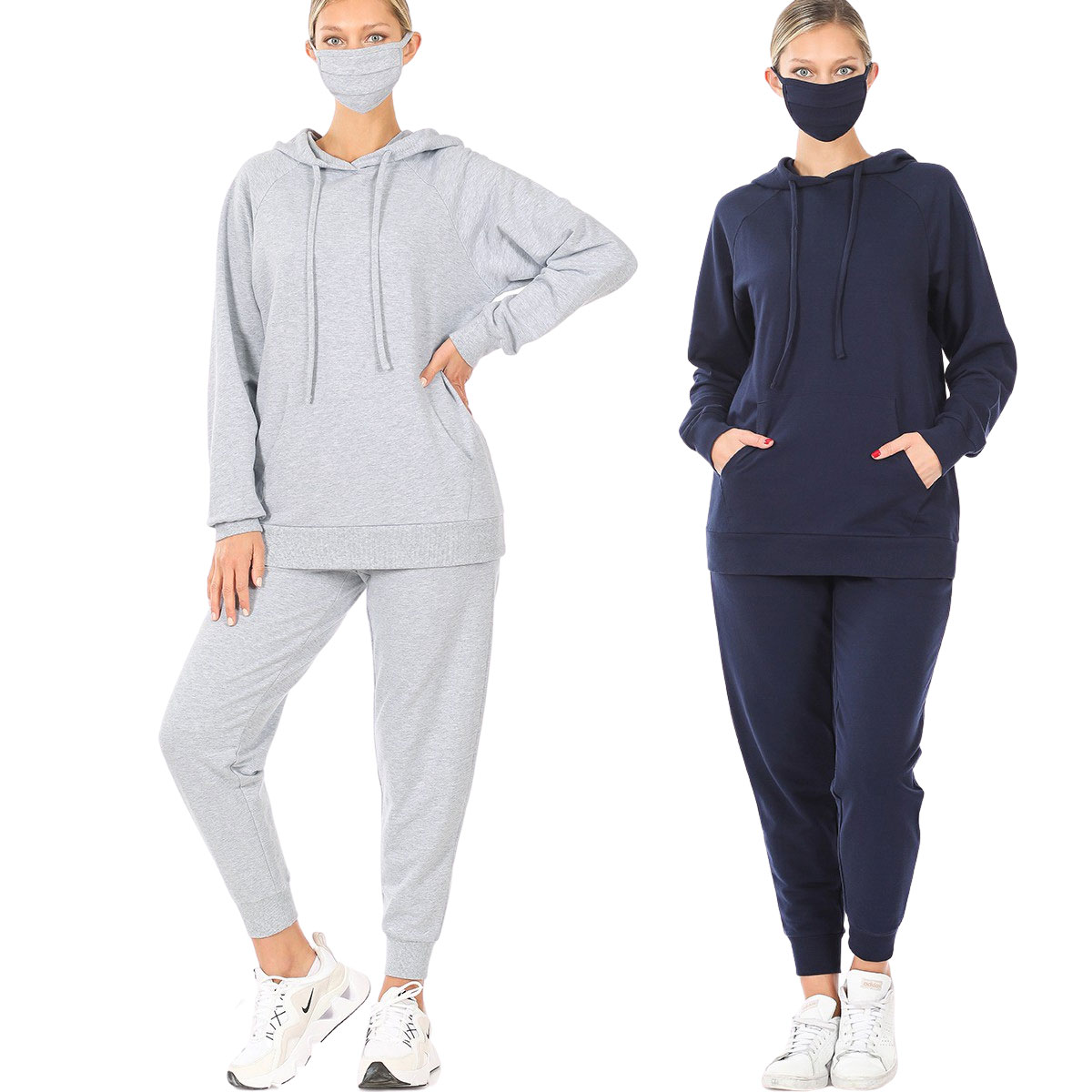 Raglan Sleeve Hoodie & Jogger with Mask-39055