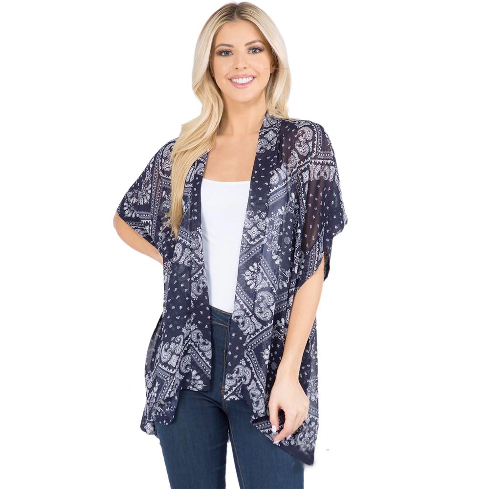 Kimono - Paisley Bandana Print 3101