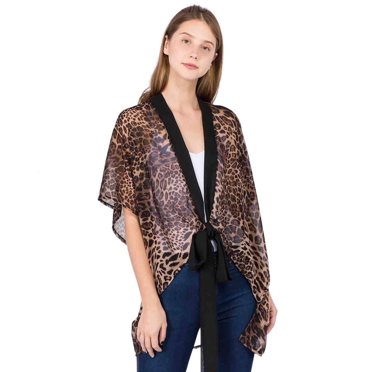 Kimono - Leopard Print w/Tie 1C05