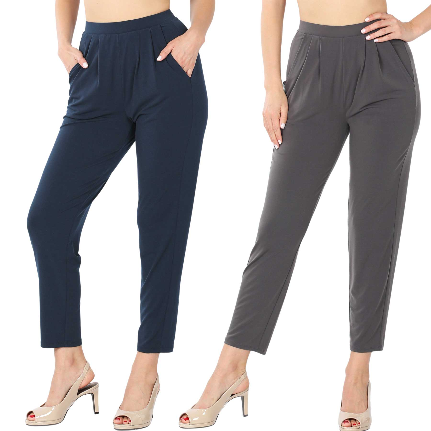 Ity Pleated Waist Pants w/ Side Pockets 10019