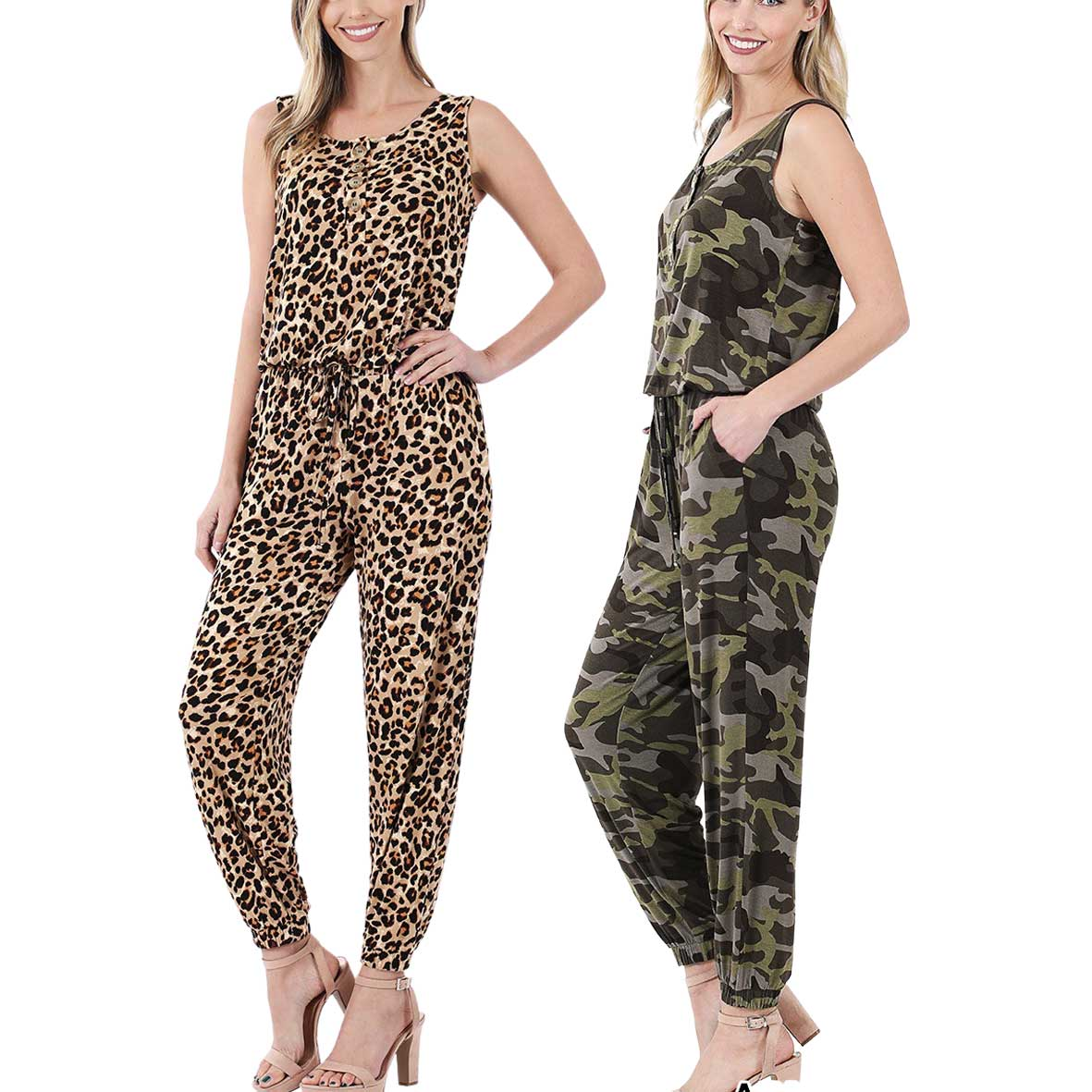 Sleeveless Jogger Jumpsuit 430
