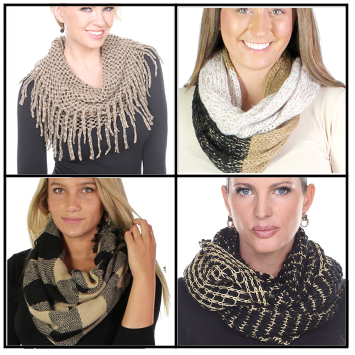 Fall/Winter Infinity Scarves - Woven and Knit 3525