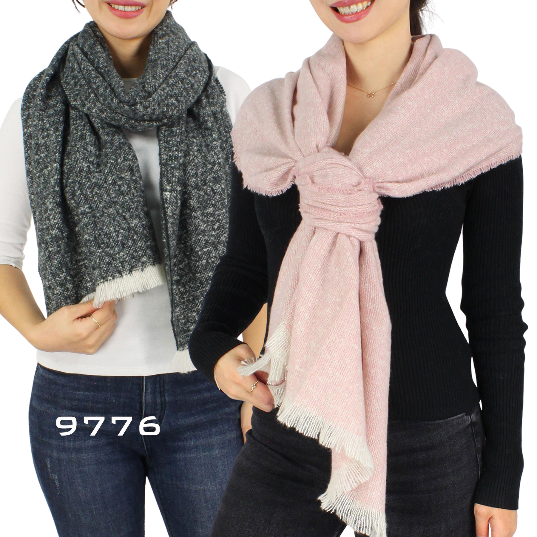 Town and Country Mottled Weave Scarves 9776