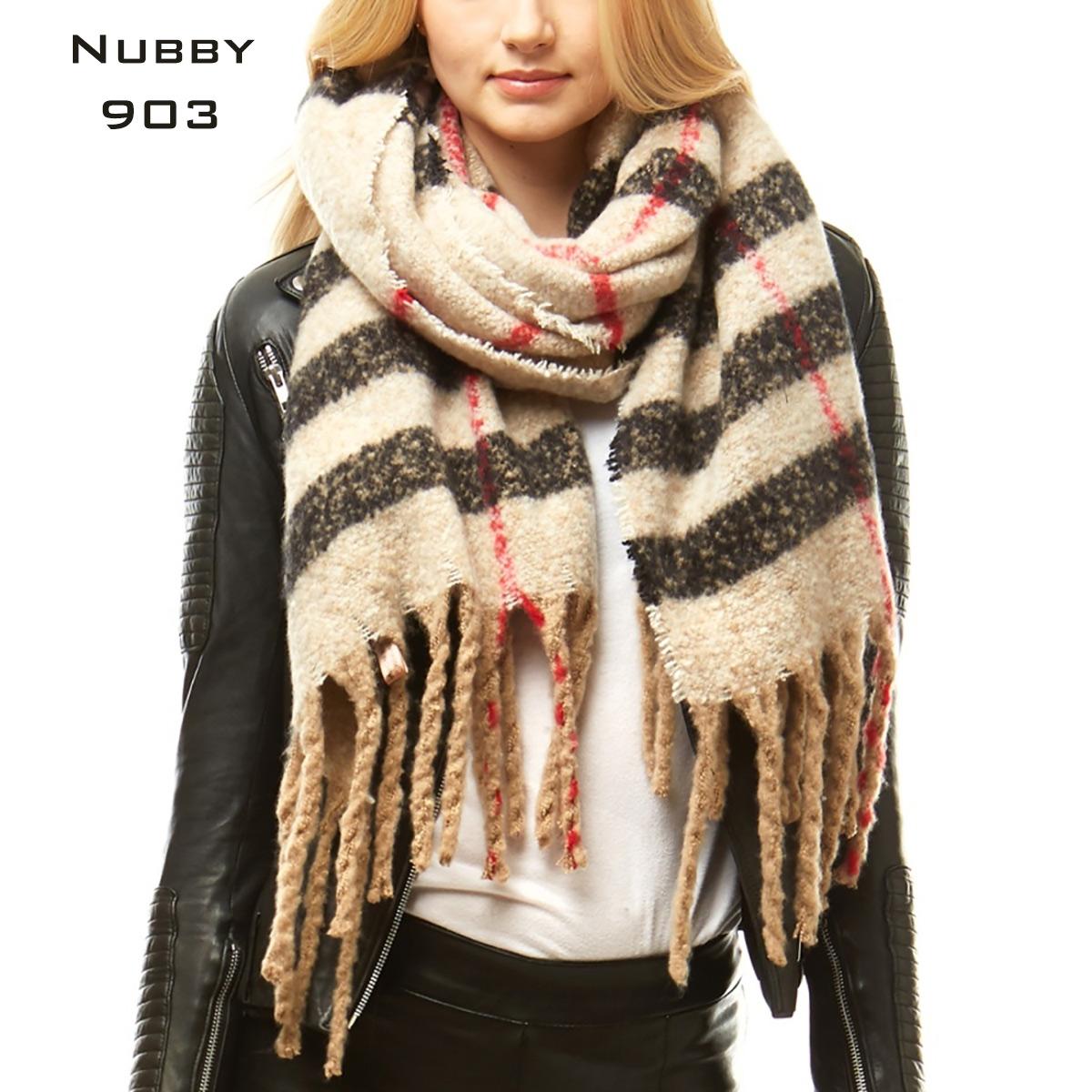 Winter Nubby Weave Oblong Scarves - 903