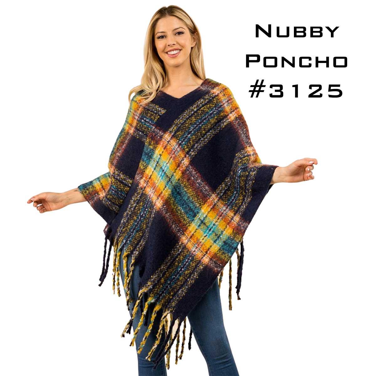 Poncho - Nubby Plaid 3125