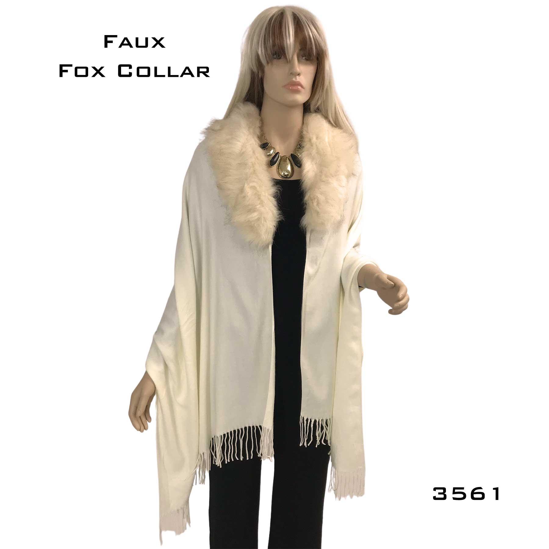 Shawls - Faux Fox Fur Collar 3561