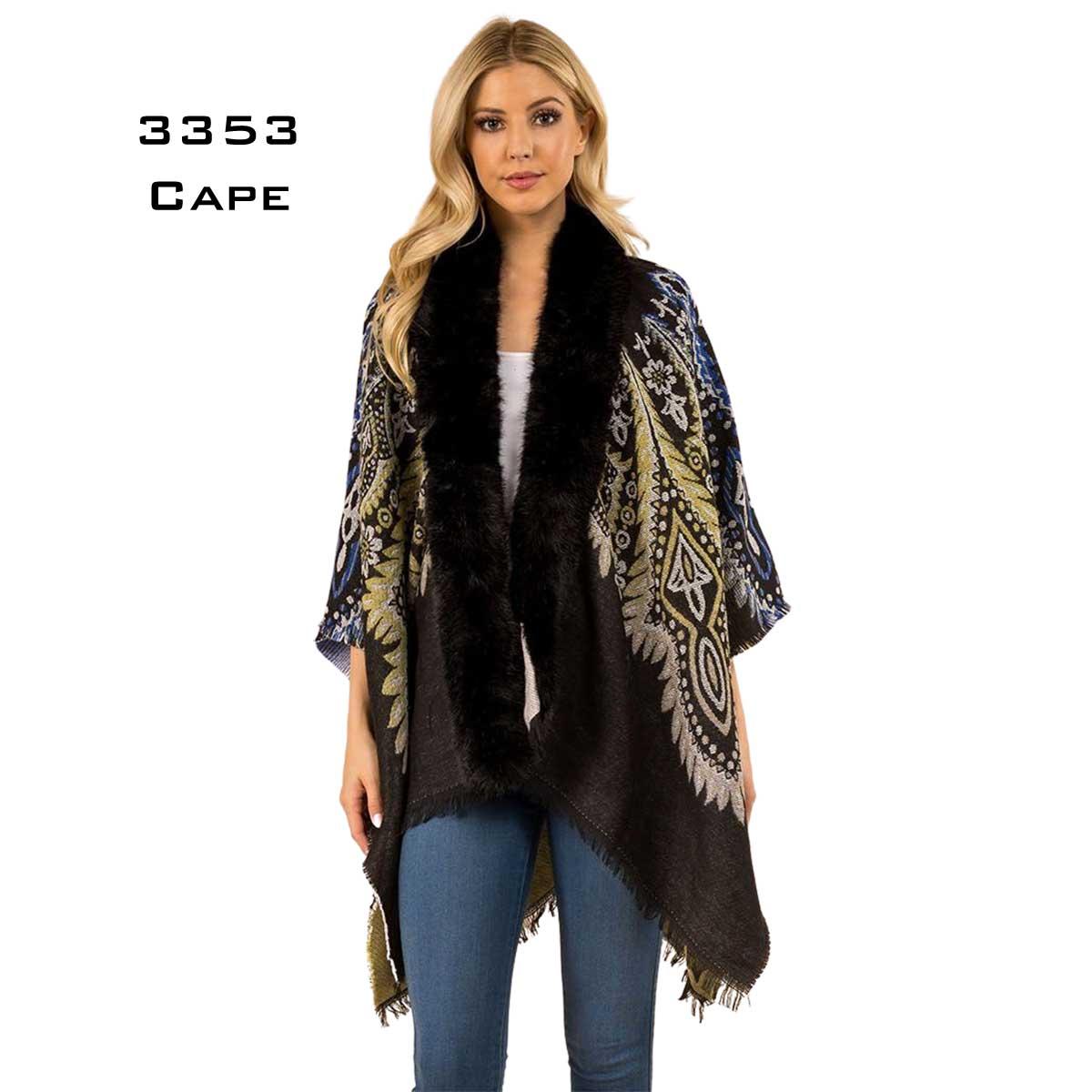 3353 - Fur Trimmed Cape